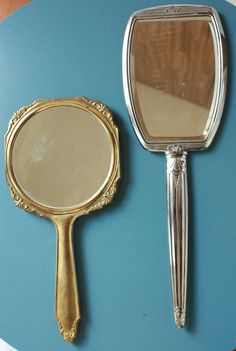 Vintage Hand Mirror by TriBecasVintage on Etsy