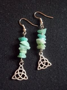 Triquetra & Aventurine Earrings by CellDara on Etsy, $9.00