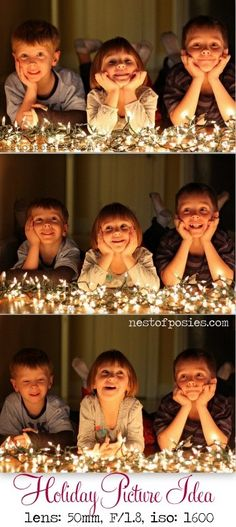 Capturing Memorable Holiday Photos with Kids at Night via @Nest of Posies