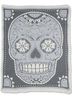 Snuggle-Up Sugar Skull Blanket at PLASTICLAND, I NEED THIS BLANKET!