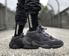 Order Your size Adidas Yeezy Boost 500 Utility Black online Yeezy 500 Black, Air Max Sneakers, Sneakers Nike, Yeezy Sneakers, Sneakers Fashion, Fashion Shoes, Mens Fashion, Black Shoes, All Black Sneakers
