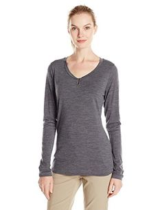 ded67247ad Ibex Outdoor Clothing Womens Seventeen5 Felicia Sweater Pewter Heather  XLarge     Read more at