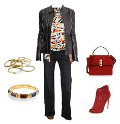 """""""Casual dinner"""" by sonia-m-beall on Polyvore featuring Free People, Topshop, New Look, Kendra Scott and Henri Bendel"""