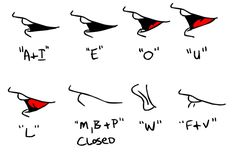 side mouth shapes for lip sync ✤ Mouth Animation, Learn Animation, Animation Reference, Drawing Reference, Character Design Tips, Character Design Cartoon, Character Design References, Disney Pixar, Disney Art