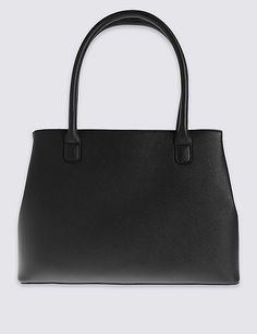 Faux Leather Zipped Tote Bag   Marks & Spencer London