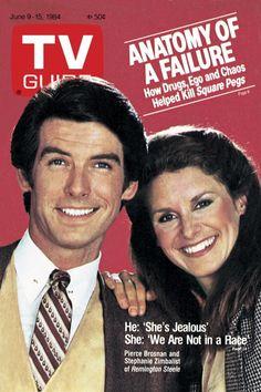 TV Guide June 9, 1984 - Pierce Brosnan and Stephanie Zimbalist of Remington Steele