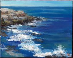 """""""Water original acrylic painting on canvas by Diane Caswell Christian Ebay Paintings, Wet Felting, Acrylic Painting Canvas, Artist Painting, Worlds Largest, Waves, Christian, The Originals, Outdoor"""