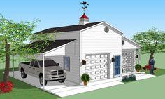 Bradley Mighty Steel RV Garage for sale, RV Shelter pricing Rv Garage, Garage House, Garage Plans, Garage Ideas, Rv Carports, Steel Carports, Shed Floor Plans, Barn Plans, House Plans