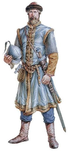 Russian warrior, the middle of the 10th century