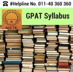 GPAT 2016 Syllabus – Candidates can check here the Syllabus of GPAT 2016 to know broad sections and important topics covered for M. Pharm Entrance Test. http://goo.gl/TMM99r