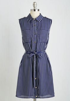 Indie-pendence Day Dress. Celebrate your freedom of fandom by sporting this sweet, striped frock to you favorite underground concert. #blue #modcloth