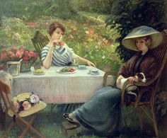 Tea Time is a painting by Jacques Jourdan.