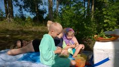Picnic after swimming in Saimaa, Savonlinna, Finland #saimaamoments