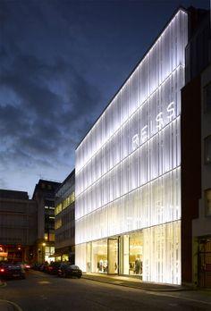 Reiss Headquarters - acrylic rain screen