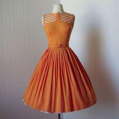 1950s dress. Love this neckline