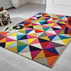 Spectrum Rugs feature a cascade of vibrant colours that leap across this stunning collection. #DecorTips #ModernRug