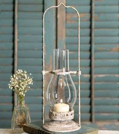 Future Ship 6/21 - Ivory Hurricane Lantern - CTW Home Collection