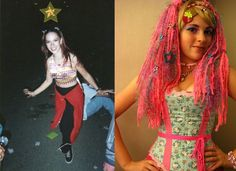Pigtails, then vs. now: | Rave Kids In The '90s Vs. Rave Kids Today