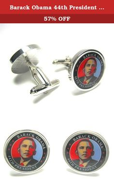 Barack Obama 44th President Cufflinks : Collectable : Limited Quantity w/ Gift Box. New Barack Obama 44th President Cufflinks! These limited production run cufflinks are great for the collector or Obama fanatic. Each pair comes with a black carrying bag for easy travel.