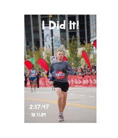 Custom Poster for Finish or Race Moment by RunningRack on Etsy