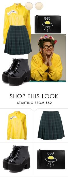 """""""Namjoon Inspired Outfit #8"""" by flaviaazevedo2000 ❤ liked on Polyvore featuring Aalto, Oasis, Gucci, Victoria Beckham, kpop, bts, bias and Namjoon"""