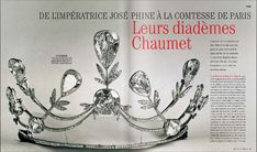 an lovely Chaumet tiara featuring multiple pear-shaped diamonds and foliate fronds