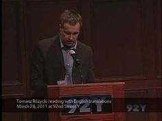 From the Poetry Center Archives: Tomasz Różycki. See upcoming events at 92Y Poetry: http://www.92y.org/Uptown/Literary-Readings/Main-Reading-Series?utm_source=pinterest_92Y_medium=pinterest_92Y_MainReadingSeries_May412_campaign=Poetry_Center