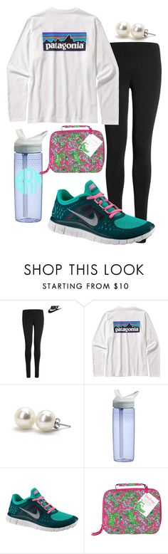 School by preppy-ever-after on Polyvore featuring Lipsy, NIKE, Bounkit, Patagonia, Lilly Pulitzer and CamelBak