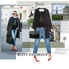 My style 187 by anna-anica on Polyvore featuring Kenzo, VILA, H&M, Frame Denim, Christian Louboutin, Chanel, Dolce&Gabbana, NARS Cosmetics, Lonely Planet and Anja