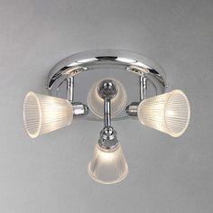 BuyJohn Lewis Lucca 3 Spotlight Bathroom Ceiling Plate Online at johnlewis.com
