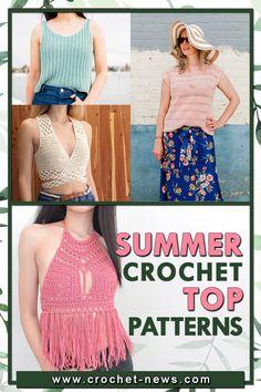 45 Summer Crochet Top Patterns | Crochet News Crochet Tunic Pattern, Top Pattern, Knit Crochet, Crochet Patterns, Crochet Things, Crochet Shawl, Easy Crochet, Crochet Stitches, Free Crochet