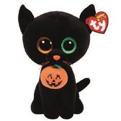 Ty Beanie Boo Shadow The Black Cat 9 Inch 2016 Beanbag Stuffed Plush for sale online All Beanie Boos, Beanie Boo Dogs, Beanie Babies, Halloween Beanie Boos, Peluche Lion, Beanie Boo Birthdays, Boo And Buddy, Ty Babies, Pikachu