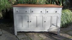 A just beautiful vintage Ercol sideboard with gorgeous elm top. Refurbished with love by Fleur Vintage x