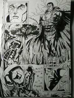 Black Adam vs Deathstroke