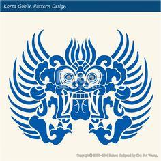 한국의 도깨비 문양 패턴디자인. 한국 전통문양 패턴 디자인 시리즈. (BPTD010026) Korea Goblin Pattern Design. Korean traditional Design Series. Copyrightⓒ2000-2014 Boians.com designed by Cho Joo Young.
