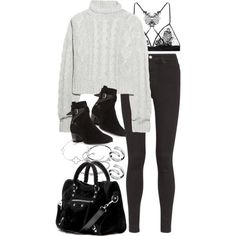 A fashion look from October 2015 featuring Bamford sweaters, AG Adriano Goldschmied jeans and Fleur of England bras. Browse and shop related looks.