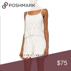 NWT Romeo and Juliet Couture White Crotchet Romper Brand new, with tags. Size medium. Obsessed with this romper, but lost too much weight and won't be able to wear it for vacation. MSRP $150 Romeo & Juliet Couture Dresses