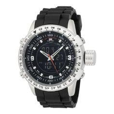 #U.S. #Polo Assn. Men's US9059 Analog-Digital Black Dial Black Rubber Strap #Watch       Cool watch, cool price!       http://amzn.to/Heu8iJ