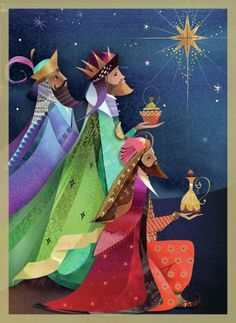 We Three Kings – The Consecrated Woman Christmas Nativity, Christmas Art, Christmas Holidays, Christmas Decorations, Christmas Ornaments, Vintage Christmas Cards, Christmas Images, Spanish Christmas Cards, Jesus E Maria