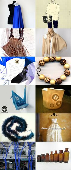 Navy Blue and Beige, Beige and Blue! by Lale Okonsar on Etsy--Pinned with TreasuryPin.com