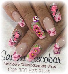 Nails & Co, Chic Nails, Fun Nails, Pretty Nail Art, Cute Nail Art, Gorgeous Nails, Fabulous Nails, Mobile Nails, Cute Spring Nails