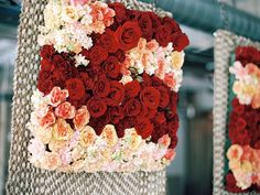 flower wall piece ~ Shakespeare inspired style winter holiday party/wedding ideas