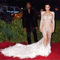 Kanye West and Kim Kardashian West The Met Gala 2015