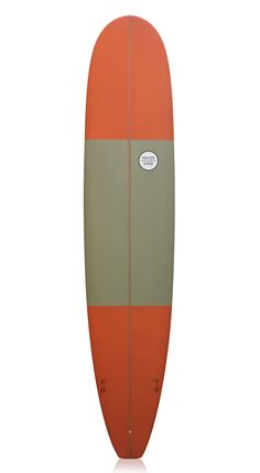 Watershed Surfboards 'Captain' Longboard Khaki and Orange 9'3