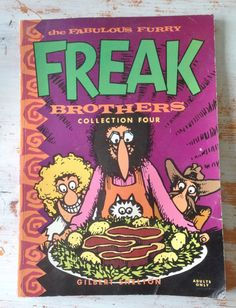 by FoxedFinds on Etsy Fat Freddy's Cat, Gilbert Shelton, Underground Comics, Comic Covers, Custom Art, Cover Art, Brother, Rock Bands, Famous People