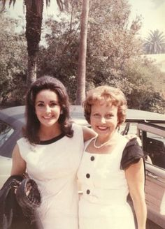 Elizabeth Taylor and her mother
