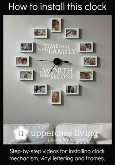 Pin now to do later. How-to videos for installing the clock from Uppercase Living.