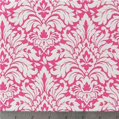 1/2 Yard Hot Pink Damask Cotton Fabric for by RetroModChic on Etsy,