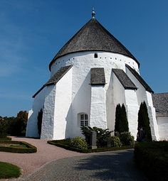 Ancient, round churches in Bornholm, Denmark,  A church built in 1150.