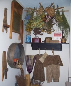 A Primitive Place ~ Primitive & Colonial Inspired Laundry Rooms